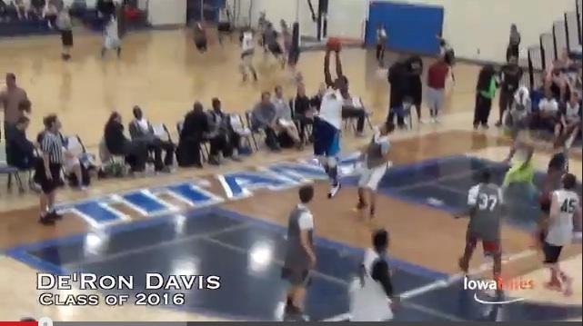 2016 F/C DeRon Davis -Iowa Elites – highlights
