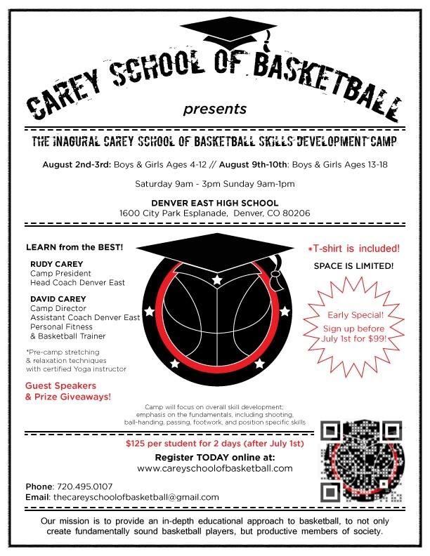 Carey School of Basketball – Basketball Camp
