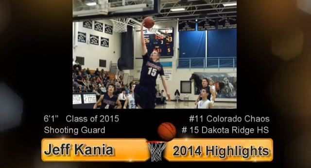 2015 SG Jeff Kania 2014 Basketball Highlights