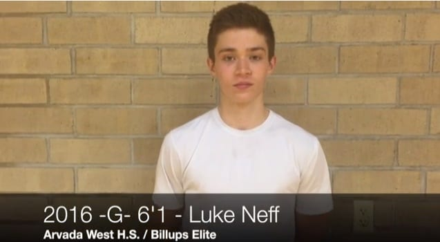 2016 6'0 G Luke Neff