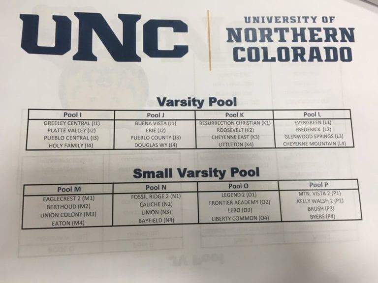 Northern Colorado Team Camp Schedule